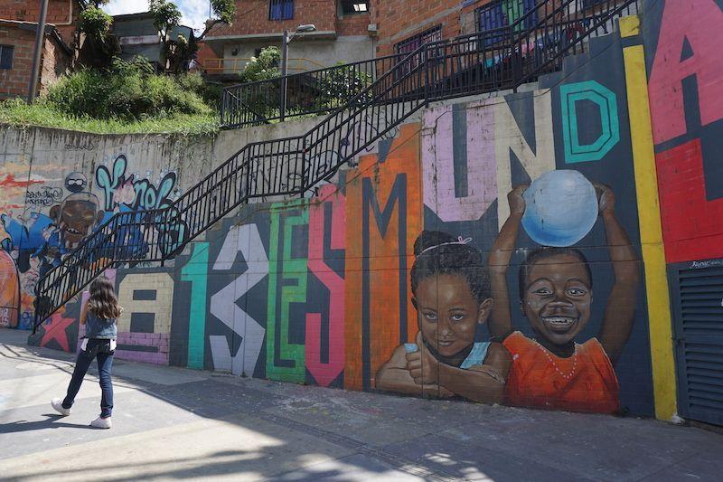 Grafitti en la Comuna 13