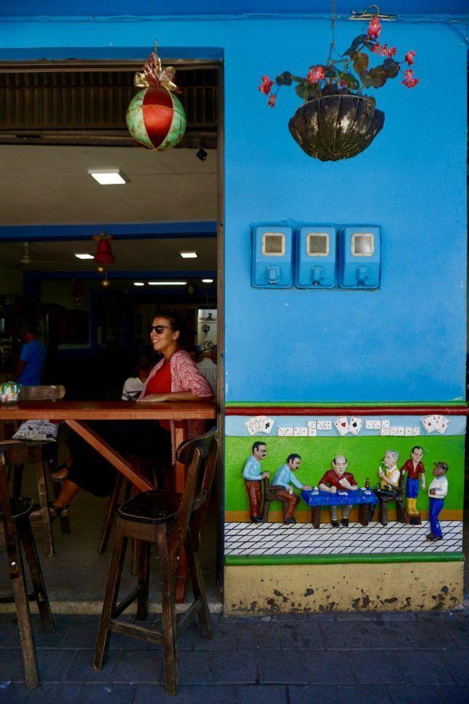 Un zócalo en un bar de Guatapé