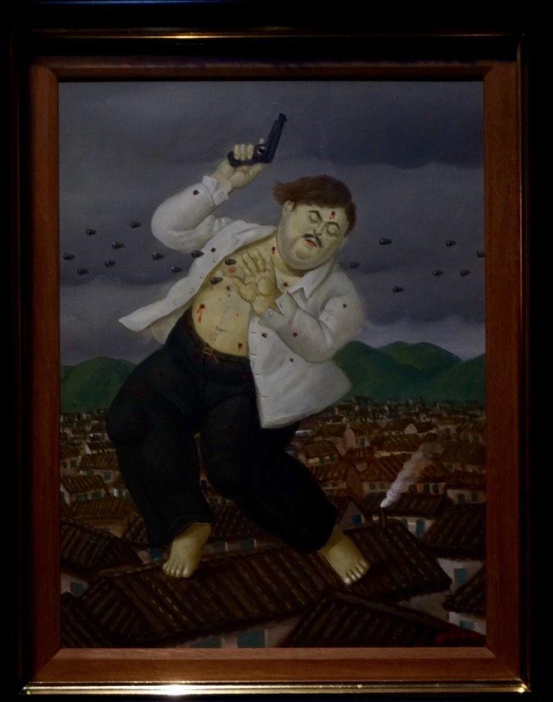 """""""La muerte de Pablo Escobar"""", 1999. Obra de Fernando Botero en el Museo de Antioquia"""