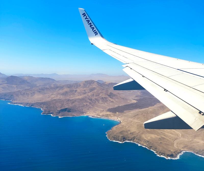 Las vistas de Fuerteventura desde el avión prometían lo que íbamos a vivir