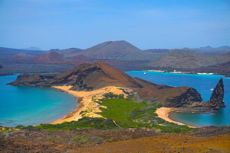La famosa postal de las islas galápagos en Bartolomé.