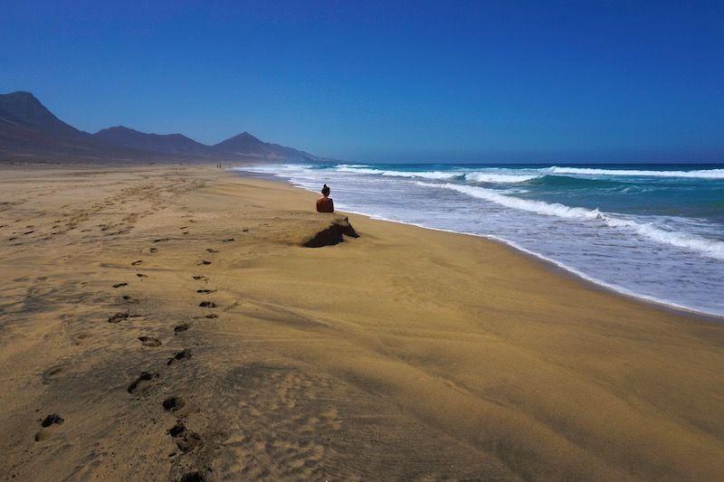 Más de 12 km de playa salvaje en el Cofete