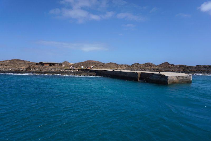 Muelle del islote de Lobos