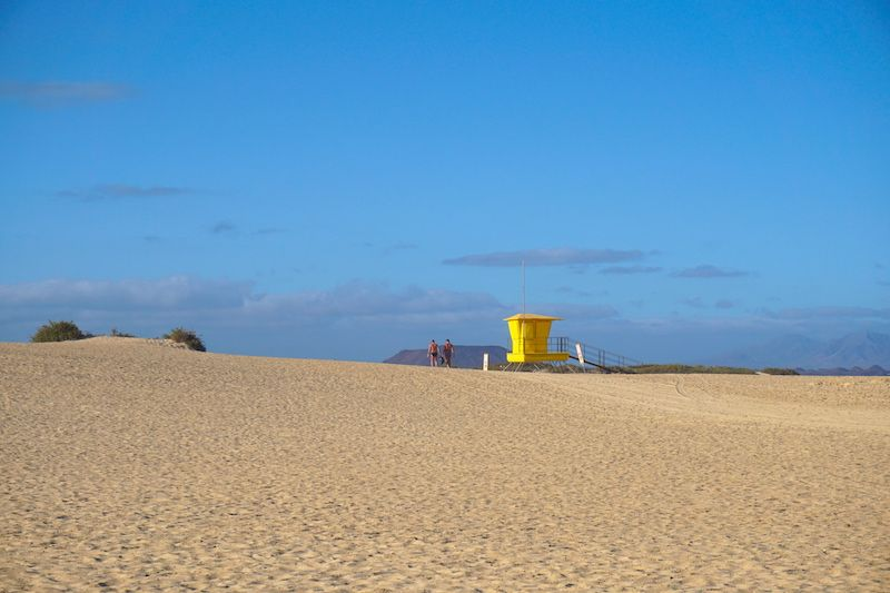 Disfrutamos de la playa todos los días ¡a principios de Marzo!