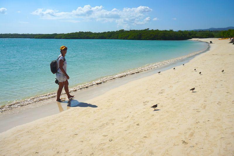 Playa Mansa. ¡Al agua!