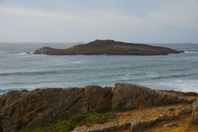 La isla de Pessegueiro desde la playa