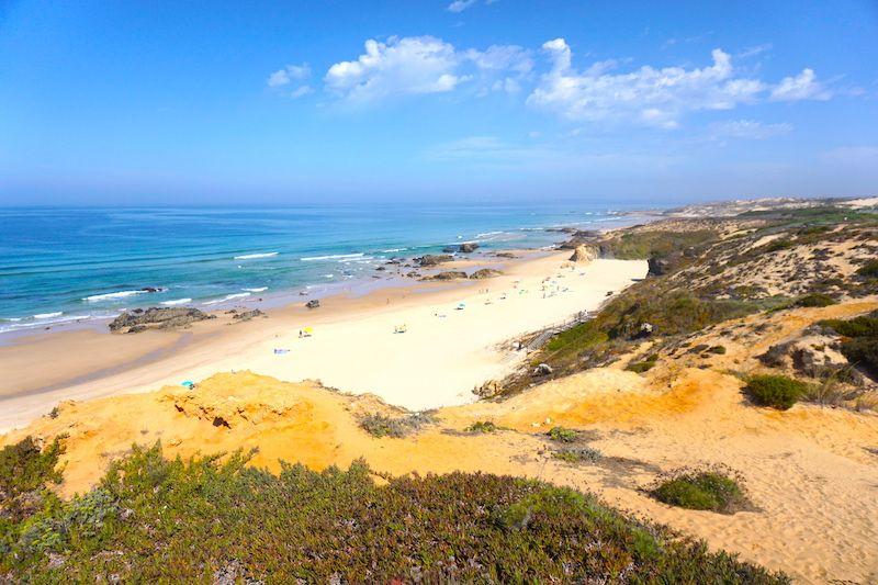 Playa de Malhão desde arriba