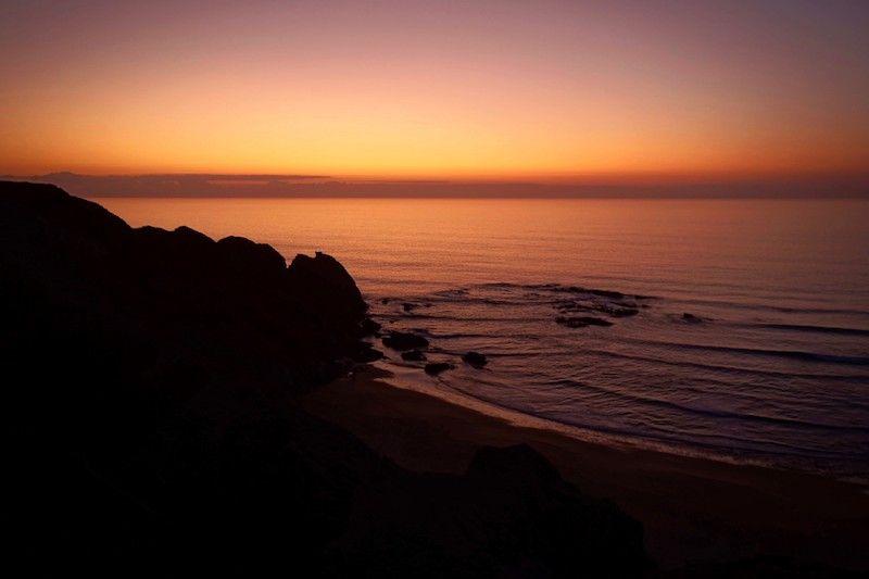 Atardecer en la playa Vale dos Homens, sin filtros